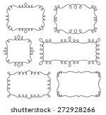 collection of decorative loop... | Shutterstock .eps vector #272928266