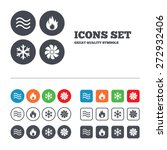 hvac icons. heating ... | Shutterstock .eps vector #272932406