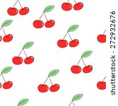 seamless pattern cherry in... | Shutterstock .eps vector #272932676