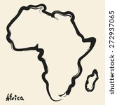 doodle drawing africa continent | Shutterstock .eps vector #272937065