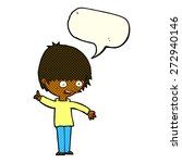 cartoon boy with question with... | Shutterstock .eps vector #272940146