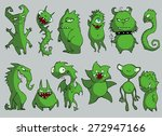 halloween set of illustrations... | Shutterstock .eps vector #272947166
