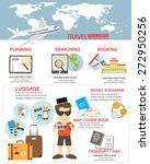 travel planing infographic. ... | Shutterstock .eps vector #272950256