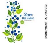 vector. blueberries berries ... | Shutterstock .eps vector #272951912