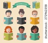 vector set of different people... | Shutterstock .eps vector #272962358