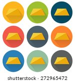 set of 9 isolated flat icons...
