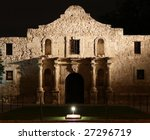 The Alamo Lit Up At Night In...