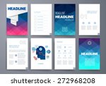 template. vector brochure... | Shutterstock .eps vector #272968208