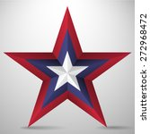 3d five pointed star    Shutterstock .eps vector #272968472