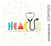 stylish text health made by... | Shutterstock .eps vector #272972372