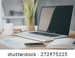 comfortable working place.... | Shutterstock . vector #272975225