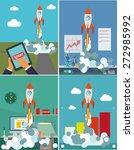 start up. flat design modern... | Shutterstock .eps vector #272985992