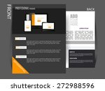 flyer  magazine cover  brochure ... | Shutterstock .eps vector #272988596
