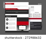 flyer  magazine cover  brochure ... | Shutterstock .eps vector #272988632