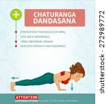 yoga therapy. yoga infographics ... | Shutterstock .eps vector #272989772
