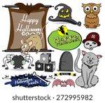 cartoon halloween graphics | Shutterstock .eps vector #272995982