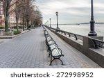 riverside footpath in new york... | Shutterstock . vector #272998952