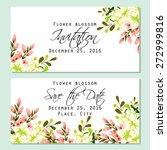 flower blossom. romantic... | Shutterstock .eps vector #272999816