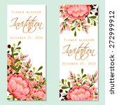 flower blossom. romantic... | Shutterstock .eps vector #272999912