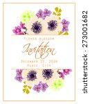 flower blossom. romantic... | Shutterstock .eps vector #273001682