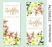 flower blossom. romantic... | Shutterstock .eps vector #273001796