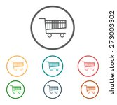 flat icon of shopping chart