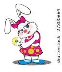 the white rabbit | Shutterstock .eps vector #27300664