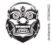 balinese monster mask outline | Shutterstock .eps vector #273018422