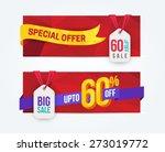 60 percent off discount... | Shutterstock .eps vector #273019772