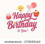 vintage happy birthday... | Shutterstock .eps vector #273020162