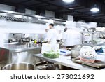modern kitchen and busy chefs... | Shutterstock . vector #273021692