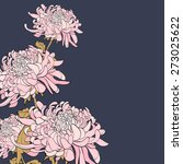 bouquet of chrysanthemum on...   Shutterstock .eps vector #273025622
