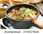 stew of pork and herbal soup ... | Shutterstock . vector #273027836