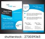 brochure in blue | Shutterstock .eps vector #273039365