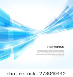 abstract blue lines business... | Shutterstock .eps vector #273040442