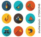 fishing flat icons | Shutterstock .eps vector #273041948