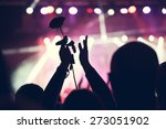 cheering crowd in front of... | Shutterstock . vector #273051902