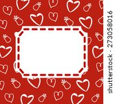 background with hearts and...   Shutterstock .eps vector #273058016