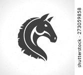 Stock vector horse face logo emblem template mascot symbol for business or shirt design vector vintage design 273059858