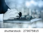 business worker signing the... | Shutterstock . vector #273075815