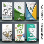 collection of roll up banner... | Shutterstock .eps vector #273080492