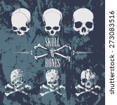 skulls and cross bones on the... | Shutterstock .eps vector #273083516