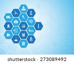 medical background and icons to ... | Shutterstock .eps vector #273089492