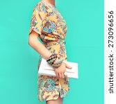 Fashion Lady. Beach Style....