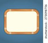 blank retro banner with lights  ... | Shutterstock .eps vector #273098756