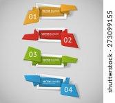 vector infographic origami... | Shutterstock .eps vector #273099155
