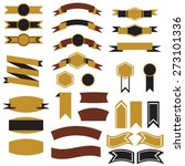 vector set  ribbons  arrows and ... | Shutterstock .eps vector #273101336
