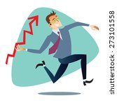 businessman throws up a... | Shutterstock .eps vector #273101558