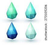 set of four water drops.... | Shutterstock .eps vector #273105206