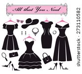 fashion dress. different styles ... | Shutterstock .eps vector #273110582
